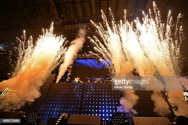 Recording arist Calvin Harris performs onstage during 106.1 KISS FM's Jingle Ball 2015 presented by Capital One at American Airlines Center on...