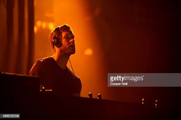 DJ/recording artist Calvin Harris performs onstage during 1061 KISS FM's Jingle Ball 2015 presented by Capital One at American Airlines Center on...