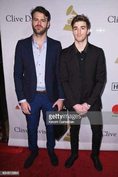 DJs Alex Pall and Andrew Taggart of The Chainsmokers attend PreGRAMMY Gala and Salute to Industry Icons Honoring Debra Lee at The Beverly Hilton on...