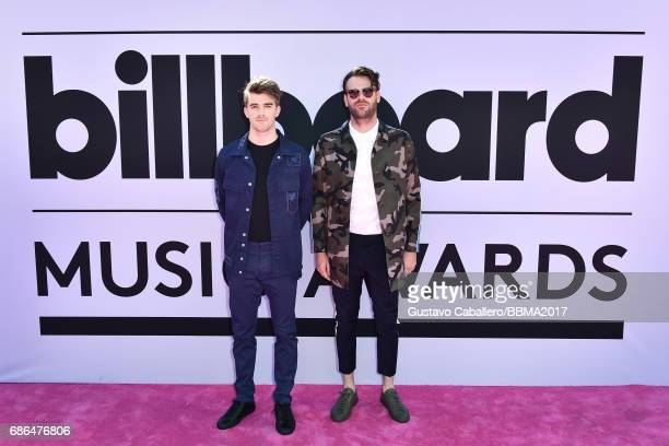 DJs Alex Pall and Andrew Taggart of The Chainsmokers attend the 2017 Billboard Music Awards at TMobile Arena on May 21 2017 in Las Vegas Nevada