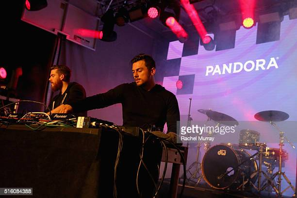 DJs Christian Srigley and Leighton James of Adventure Club perform onstage during the PANDORA Discovery Den SXSW on March 16 2016 in Austin Texas