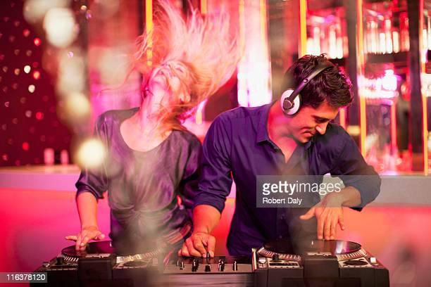 DJs in nightclub