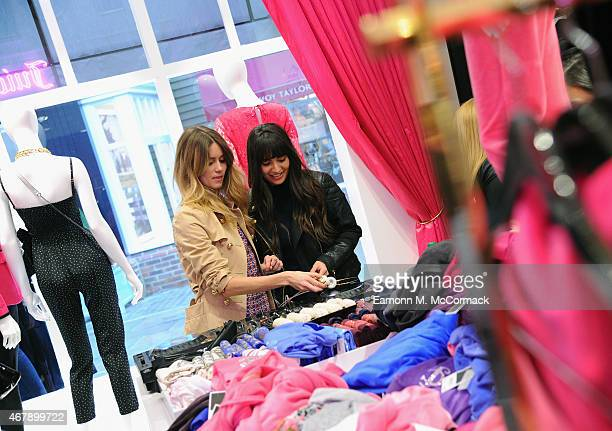 DJs Jade Williams and Zara Martin at the opening of Juicy Couture Bicester Village on March 28 2015 in Bicester England