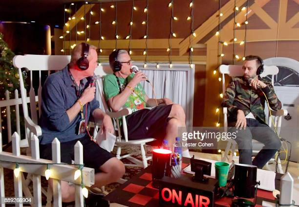KROQ DJs Kevin Ryder Gene 'Bean' Baxter interview Tim McIlrath of Rise Against at KROQ Almost Acoustic Christmas 2017 at The Forum on December 9 2017...