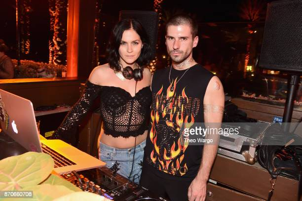DJs Leigh Lezark and Geordon Nicol of The Misshapes perform at the weekend opening of The NEW ultraluxury Cove Resort at Atlantis Paradise Island on...