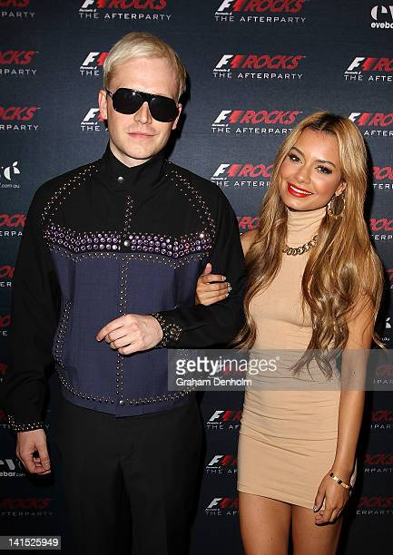 DJs Mr Hudson and Havana Brown attend the F1 Rocks Melbourne After Party at Eve Nightclub on March 17 2012 in Melbourne Australia
