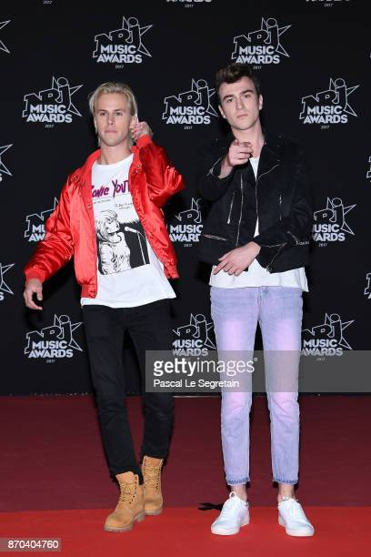 DJs Ofenbach Cesar Laurent de Rummel and Dorian Lauduique attend the 19th NRJ Music Awards on November 4 2017 in Cannes France