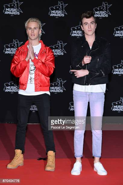 DJs Ofenbach Cesar Laurent de Rummel and Dorian Lauduique attend the 19th NRJ Music Awards on November 4 2017 in Cannes France