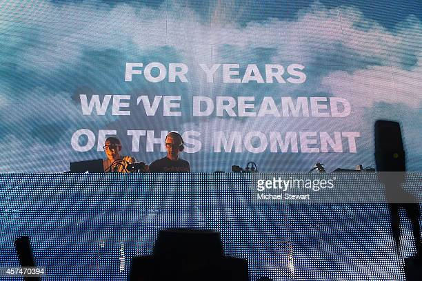 DJs Paavo Siljamaki and Tony McGuinness of Above Beyond performs at Madison Square Garden on October 18 2014 in New York City
