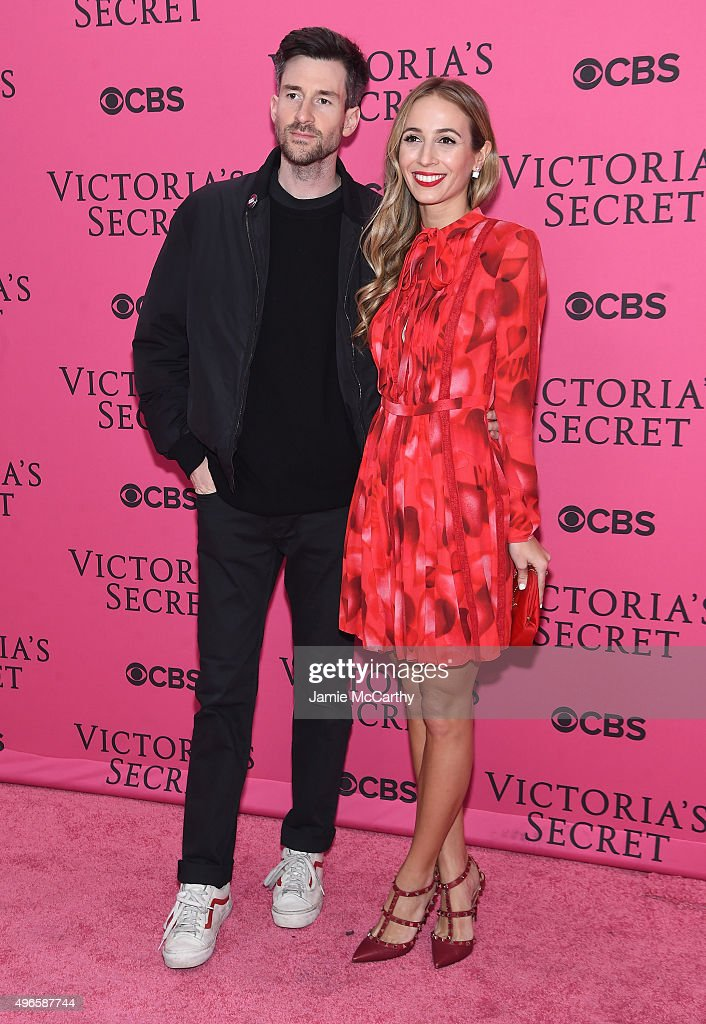 DJs Ross One (L) and Harley Viera-Newton attend the 2015 Victoria's Secret Fashion Show at Lexington Avenue Armory on November 10, 2015 in New York City.