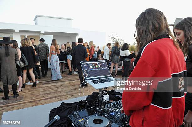 DJs SIMIHAZE attend House of Harlow 1960 x REVOLVE on June 2, 2016 in Los Angeles, California.