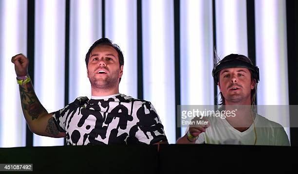 DJs/producers Sebastian Ingrosso and Axwell perform as Axwell / Ingrosso during the 18th annual Electric Daisy Carnival at Las Vegas Motor Speedway...