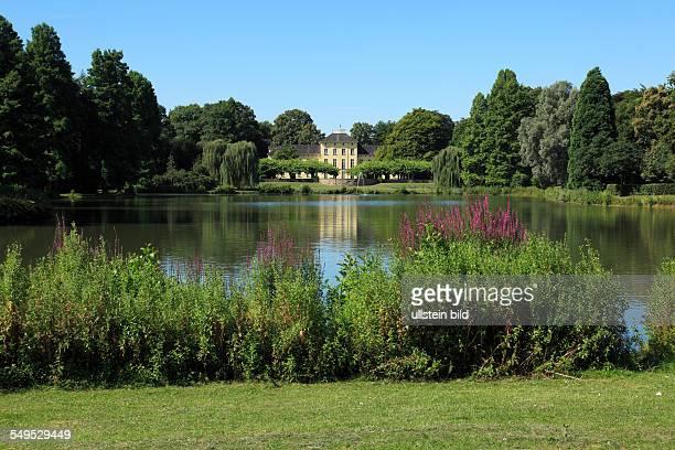DKrefeld Rhine Lower Rhine Rhineland North RhineWestphalia NRW DKrefeldOppum Schoenwasser park manor house Schoenwasser classicism pond