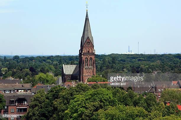 DKrefeld Rhine Lower Rhine Rhineland North RhineWestphalia NRW panoramic view from the Stadthaus catholic Saint Anna church