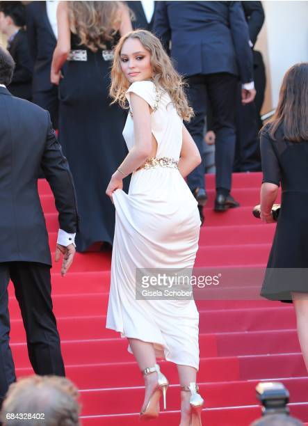DLilyRose Depp daughter of Johnny Depp attend the Ismael's Ghosts screening and Opening Gala during the 70th annual Cannes Film Festival at Palais...
