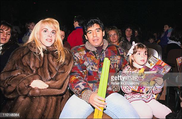 Maradona at the show of Ninja Turtles in Buenos Aires Argentina on July 12 1991