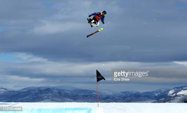 Dmirii Makarov of Russia loses a ski during warms up before the qualification round of the Men's Ski Big Air at the FIS Freeski World Championships...