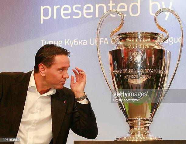 Dmitri Alenichev during the UEFA Champions League Trophy Tour 2011 on September 23 2011 in Moscow Russia