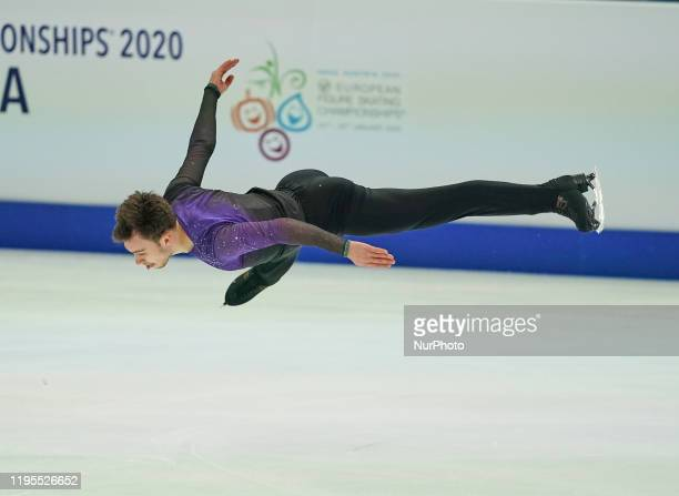 Dmitri Aliev of Russia during Men Free Skating at ISU European Figure Skating Championships in Steiermarkhalle Graz Austria on January 24 2020