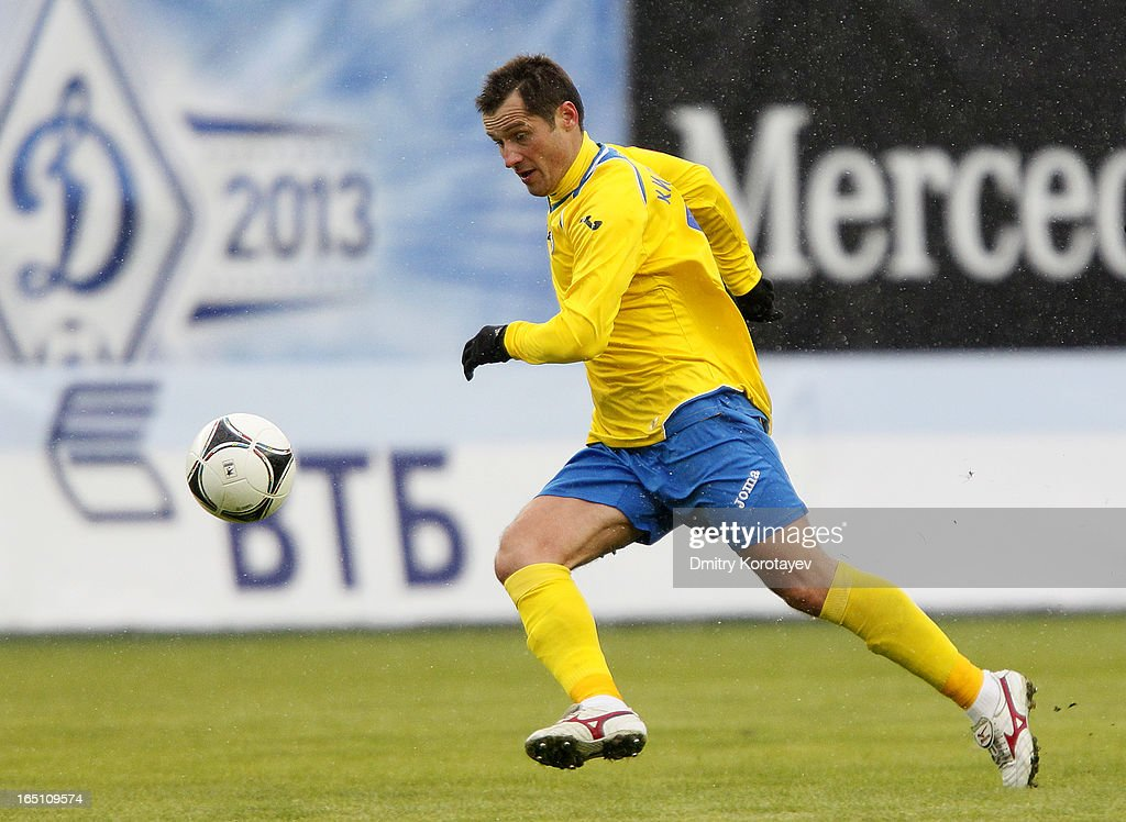 Dmitri Kirichenko of FC Rostov Rostov-on-Don in action during the Russian Premier League match between FC Dynamo Moscow and FC Rostov Rostov-on-Don at the Arena Khimki Stadium on March 30, 2013 in Khimki, Russia.