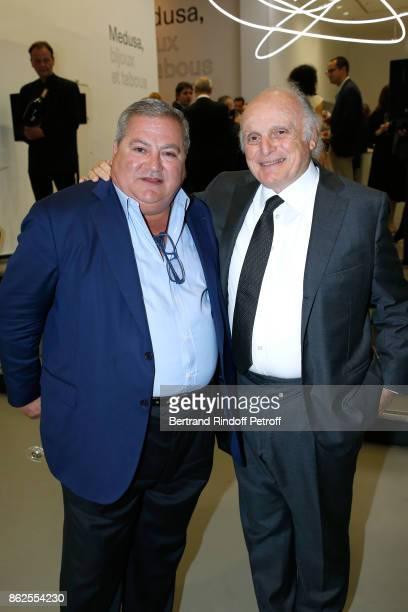 Dmitri Mavrommatis and David Nahmad attend the Societe des Amis du Musee d'Art Moderne de la Ville de Paris Dinner on October 17 2017 in Paris France