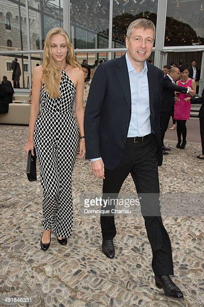 Dmitri Rybolovlev and guest attend the Louis Vuitton Cruise Line Show at place d'armes on May 17 2014 in MonteCarlo Monaco