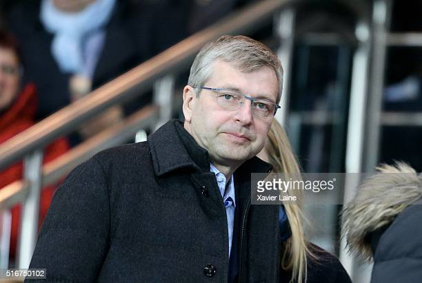 Dmitri Rybolovlev attends the French Ligue 1 match between Paris SaintGermain and AS Monaco at Parc des Princes on march 20 2016 in Paris France