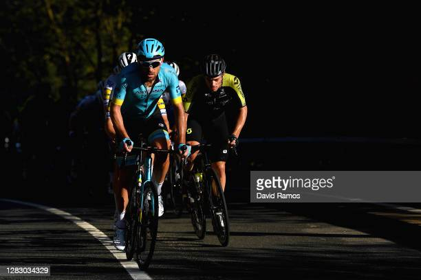 Dmitriy Gruzdev of Kazahkstan and Astana Pro Team / Alexander Edmondson of Australia and Team Mitchelton - Scott / Ian Garrison of The United States...