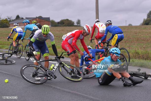 Dmitriy Gruzdev of Kazahkstan and Astana Pro Team / Sven Erik Bystrom of Norway and UAE Team Emirates / Emmanuel Morin of France and Team Cofidis...