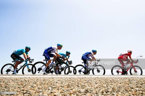Dmitriy Gruzdev of Kazakhstan and Astana Pro Team / Dries Devenyns of Belgium and Team Deceuninck - Quick-Step / Laurens De Vreese of Belgium and...