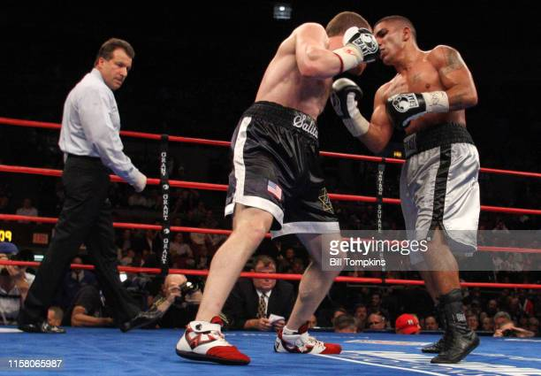 Dmitriy Salita defeats Derrick Campos by UD in their Super Lightweight boxing match at Madison Square Garden on November 8 2008 in New York City...