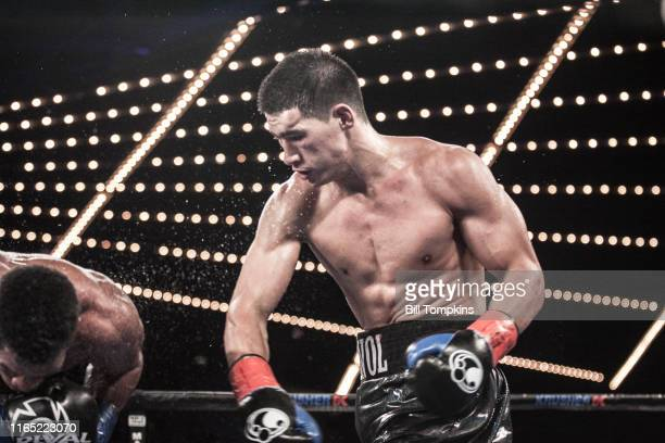 Dmitry Bivol defeats Sullivan Barrera by TKO in the 12th round during their Light Heavyweight fight at Madison Square Garden on March 3 2018 in New...