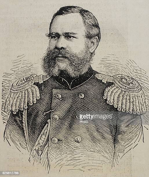 Dmitry Ivanovich SviatopolkMirsky Imperial Russian Army general a politician and a member of the princely SvyatopolkMirsky family Portrait Engraving...