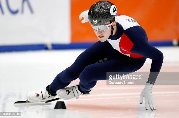 Dmitry Migunov of France during the ISU European Championship Shorttrack at the Sportboulevard Dordrecht on January 11 2019 in Dordrecht Netherlands
