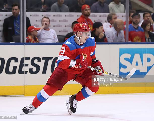 Dmitry Orlov of Team Russia skates against Team Finland during the World Cup of Hockey 2016 at Air Canada Centre on September 22 2016 in Toronto...