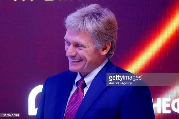 Dmitry Peskov Press Secretary of the President of the Russian Federation and Alexander Novak Minister of Energy of the Russian Federation attend the...