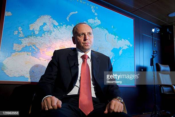 Dmitry Pumpyansky chairman of OAO TMK listens during an interview at the company's headquarters in Moscow Russia on Thursday Sept 22 2011 OAO TMK...