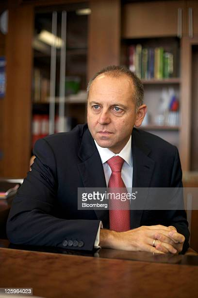 Dmitry Pumpyansky chairman of OAO TMK listens during an interview in his office at the company's headquarters in Moscow Russia on Thursday Sept 22...