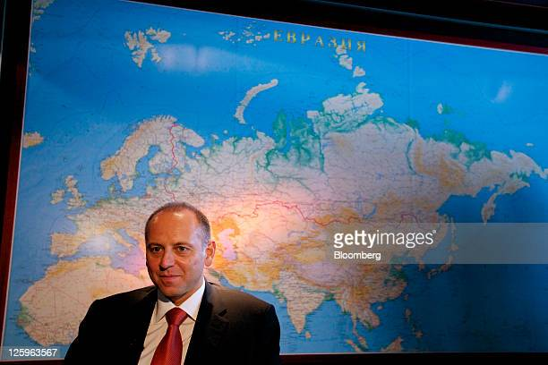 Dmitry Pumpyansky chairman of OAO TMK pauses during an interview at the company's headquarters in Moscow Russia on Thursday Sept 22 2011 OAO TMK...