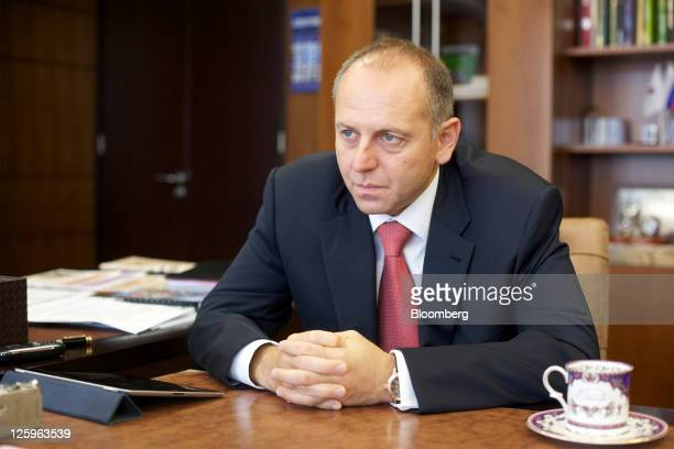Dmitry Pumpyansky chairman of OAO TMK pauses during an interview in his office at the company's headquarters in Moscow Russia on Thursday Sept 22...