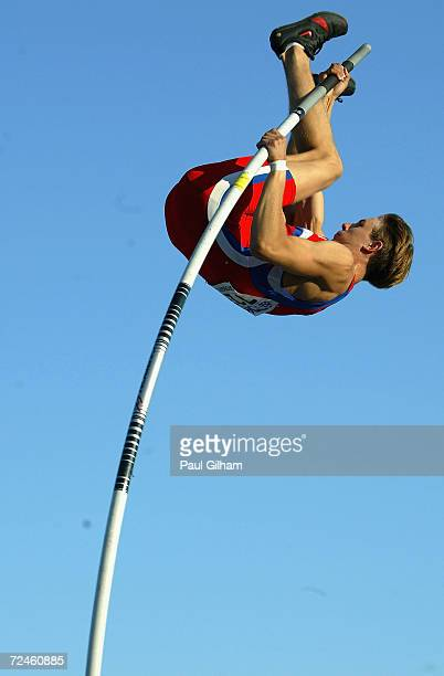 Dmitry Starodubtsev of Russia on his way to clearing 550 metres to win the Men's Pole Vault Final at the IAAF World Juniors Championships at the...
