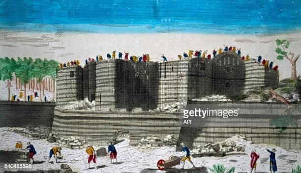 Démolition de la Bastille en 1789 à Paris France