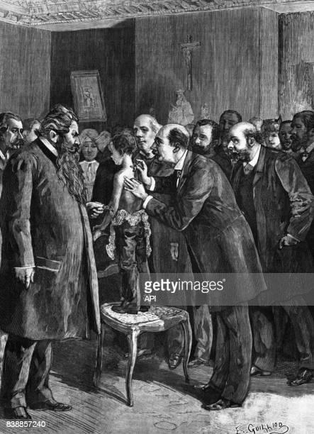 Démonstration d'un traitement de la tuberculose par le docteur Léon Petit au dispensaire de la rue Miromesnil à Paris en France en 1890