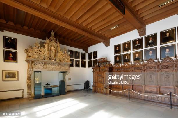 Muenster, Westphalia, Muensterland, North Rhine-Westphalia, NRW, Historical City Hall of Muenster at the Prinzipal Market Place, interior,...
