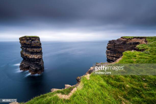 Dún Briste sea stack at Downpatrick Head, County Mayo, Republic of Ireland, Europe
