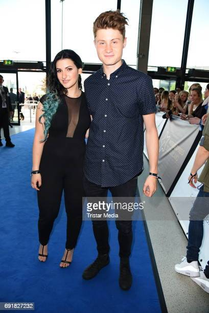 Dner and his girlfriend Kati during the Deutscher Webvideopreis 2017 at ISS Dome on June 1, 2017 in Duesseldorf, Germany.