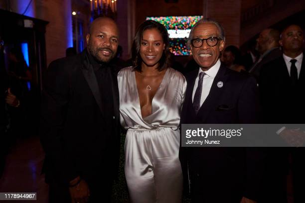 DNice Aisha McShaw and Reverend Al Sharpton attend Reverend Al Sharpton's 65th Birthday Celebration at New York Public Library on October 03 2019 in...