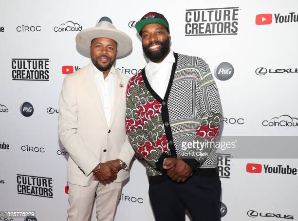 Nice and Baron Davis attend the Culture Creators Innovators & Leaders Awards at The Beverly Hilton on June 26, 2021 in Beverly Hills, California.