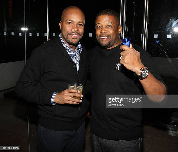 Nice and Chuck Bone attend a Hennessey Black party to celebrate DJ DNice signing to Roc Nation DJ's at The Cooper Square Hotel on November 16 2010 in...