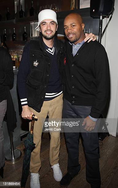 Nice and DJ Cassidy attend a Hennessey Black party to celebrate DJ DNice signing to Roc Nation DJ's at The Cooper Square Hotel on November 16 2010 in...
